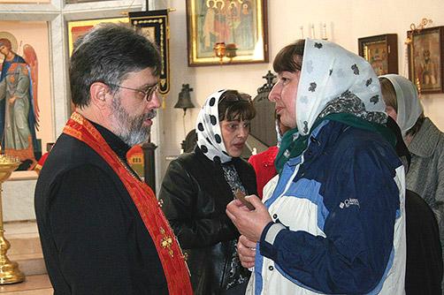 ОБЩЕНИЕ с прихожанкой после богослужения